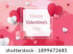 valentine's day concept... | Shutterstock . vector #1899672685
