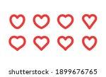heart linear icon. valentine's... | Shutterstock .eps vector #1899676765
