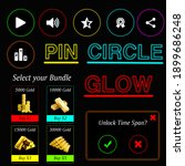 pin circle glow ui design play  ...