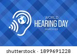world hearing day is a campaign ... | Shutterstock .eps vector #1899691228
