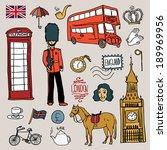 england set  vector... | Shutterstock .eps vector #189969956