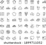 thin outline vector icon set... | Shutterstock .eps vector #1899711052