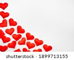 many textured red hearts on top ... | Shutterstock . vector #1899713155