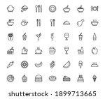 restauran icon set. food and... | Shutterstock .eps vector #1899713665