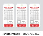 fire alarm inspection tag...   Shutterstock .eps vector #1899732562