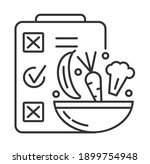 diet plan icon vector in...