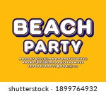 vector event poster beach party.... | Shutterstock .eps vector #1899764932