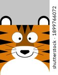 Cheerful Plain Tiger Head With...