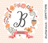 personalized monogram in...   Shutterstock .eps vector #189977498