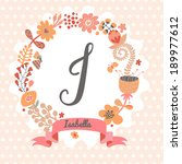 personalized monogram in...   Shutterstock .eps vector #189977612