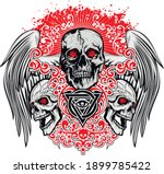 gothic sign with skull  grunge... | Shutterstock .eps vector #1899785422