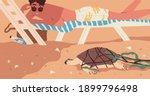 extinction of wild species... | Shutterstock .eps vector #1899796498