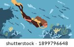 ecological catastrophe and... | Shutterstock .eps vector #1899796648