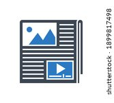 content related glyph icon....   Shutterstock . vector #1899817498