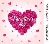 valentine's day. heart shaped... | Shutterstock .eps vector #1899841102