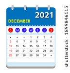 2021 calendar. wall calendar... | Shutterstock .eps vector #1899846115