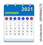 2021 calendar. wall calendar... | Shutterstock .eps vector #1899846175