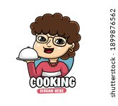 mascot character of woman chef  ... | Shutterstock .eps vector #1899876562