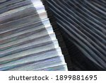 fashionable pleated fabric...   Shutterstock . vector #1899881695