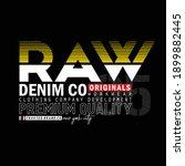 raw denim stylish typography... | Shutterstock .eps vector #1899882445