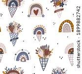 boho style seamless pattern... | Shutterstock .eps vector #1899882742
