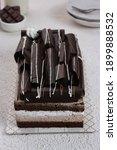 Chocolate Layer Cake With Cream ...