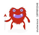 cartoon monster vector  furry... | Shutterstock .eps vector #1899892048