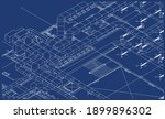 architectural bim air ducts... | Shutterstock .eps vector #1899896302
