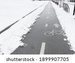 Bike Path In The Snow. Ride...