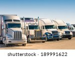 Generic Semi Trucks At A...