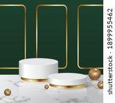 modern podium display on marble ... | Shutterstock .eps vector #1899955462