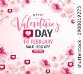 valentine's day sale banner for ...   Shutterstock .eps vector #1900019275