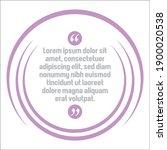 vector set of creative quote... | Shutterstock .eps vector #1900020538