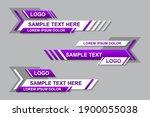 modern geometric lower third... | Shutterstock .eps vector #1900055038