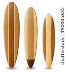 illustration of surfboards with ... | Shutterstock .eps vector #190005632