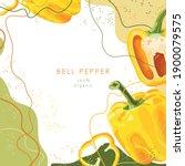 stylized bell pepper on an... | Shutterstock .eps vector #1900079575