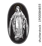 our lady of miraculous medal... | Shutterstock .eps vector #1900084855