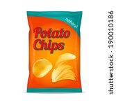 potato chips bag isolated on...   Shutterstock . vector #190010186