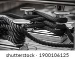 Mooring Lines Wrapped Around A...