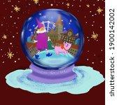 illustration of a glass ball...   Shutterstock . vector #1900142002