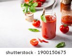 Glass Of Tomato Juice With...