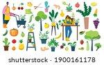 vector set of village people... | Shutterstock .eps vector #1900161178