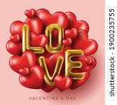 happy valentine's day banner....   Shutterstock .eps vector #1900235755