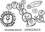 black and white cartoon vector... | Shutterstock .eps vector #190025015
