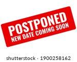 event is postponed vector...   Shutterstock .eps vector #1900258162
