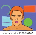 colorful surrealist vector... | Shutterstock .eps vector #1900264765