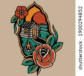 tattoo design a very beautiful... | Shutterstock .eps vector #1900294852