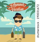 summer vacation with character... | Shutterstock .eps vector #190031672