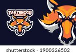 angry fox head sports logo... | Shutterstock .eps vector #1900326502