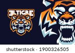 angry tiger head with sharp... | Shutterstock .eps vector #1900326505